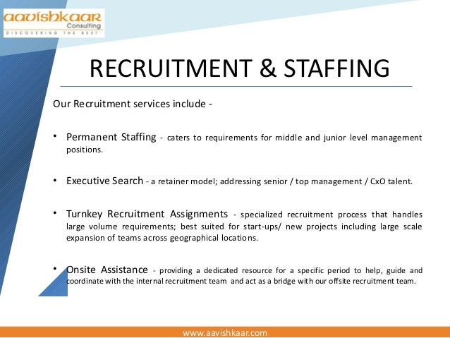 staffing and recruiting essay