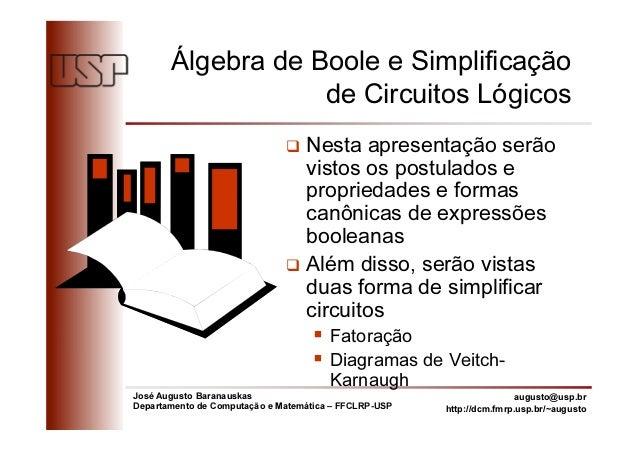 José Augusto Baranauskas Departamento de Computação e Matemática – FFCLRP-USP augusto@usp.br http://dcm.fmrp.usp.br/~augus...
