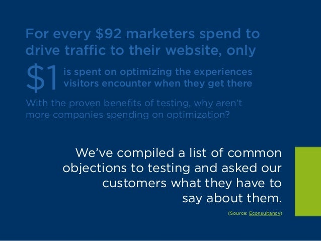 A/B Mythbusters: Common Optimization Objections Debunked Slide 3