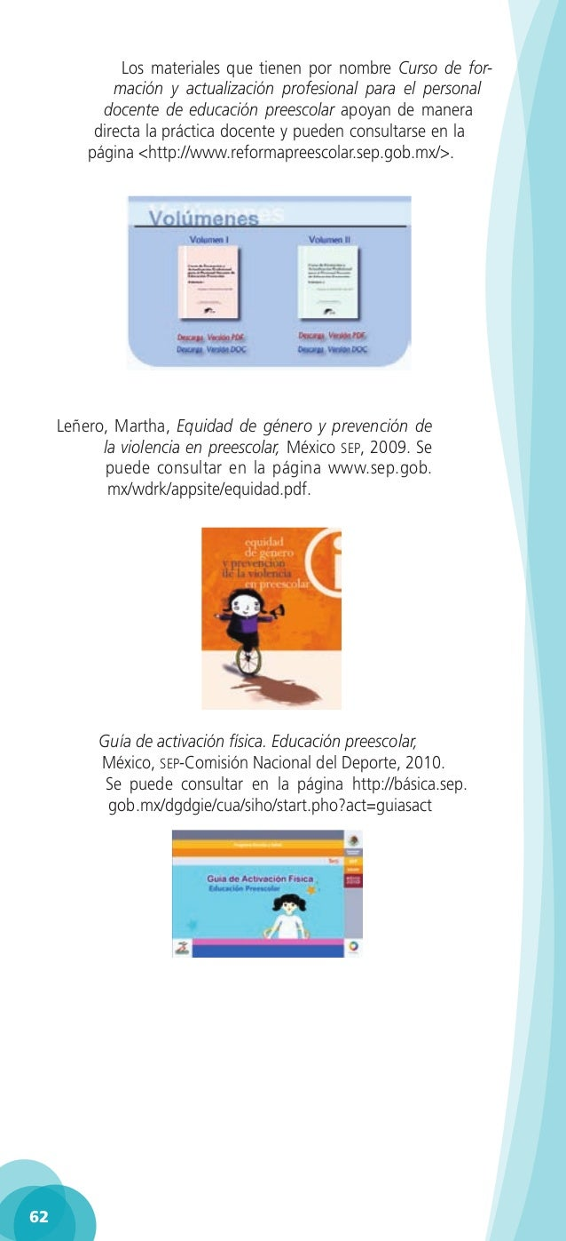 Gu a para la educadora tercer grado educaci n preescolar pdf for Guia mecanica de cocina pdf