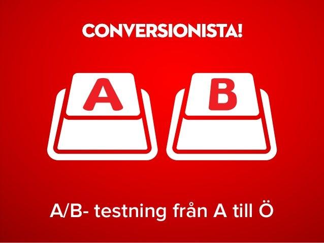 A/B- testning från A till Ö