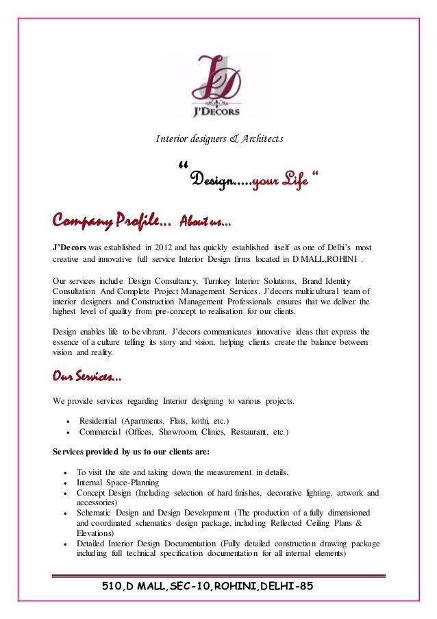 j decors company profile