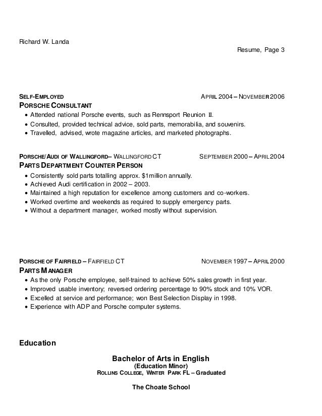 Resume Of Self Employed Person Image Collections Resume Format