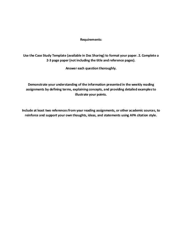 Case study assignment guidelines - lamoradadelcid.com
