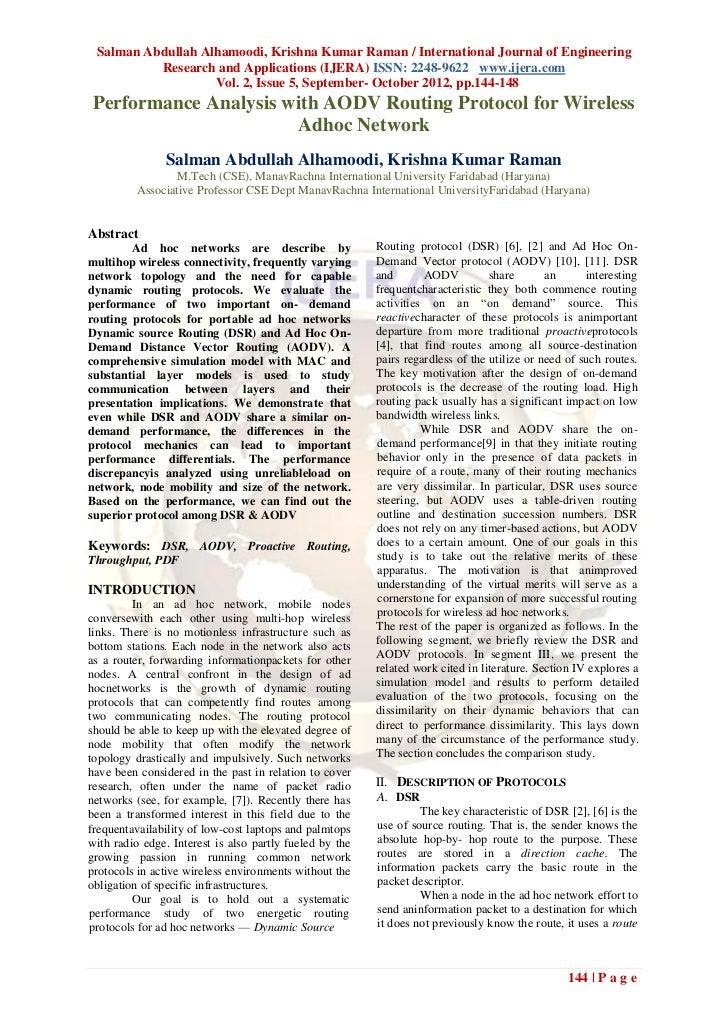 Salman Abdullah Alhamoodi, Krishna Kumar Raman / International Journal of Engineering          Research and Applications (...