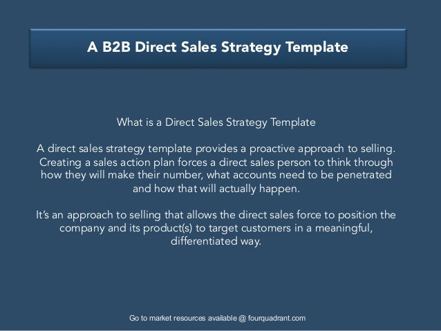 Doc980735 Sales Strategy Template GoToMarket Strategy – Sales Strategy Template