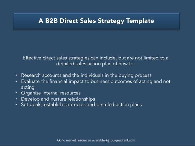 a b2b direct sales strategy template. Black Bedroom Furniture Sets. Home Design Ideas