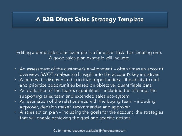 ... 4. A B2B Direct Sales Strategy Template ...