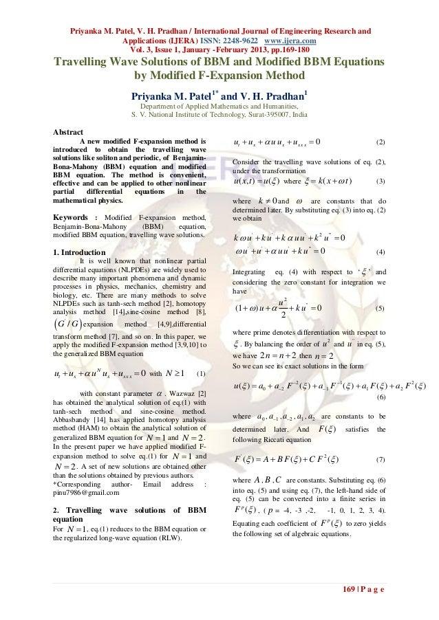 Priyanka M. Patel, V. H. Pradhan / International Journal of Engineering Research and                       Applications (I...