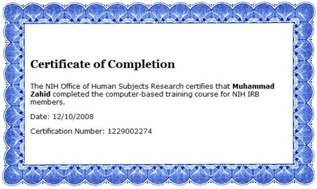 certificate irb nih slideshare upcoming