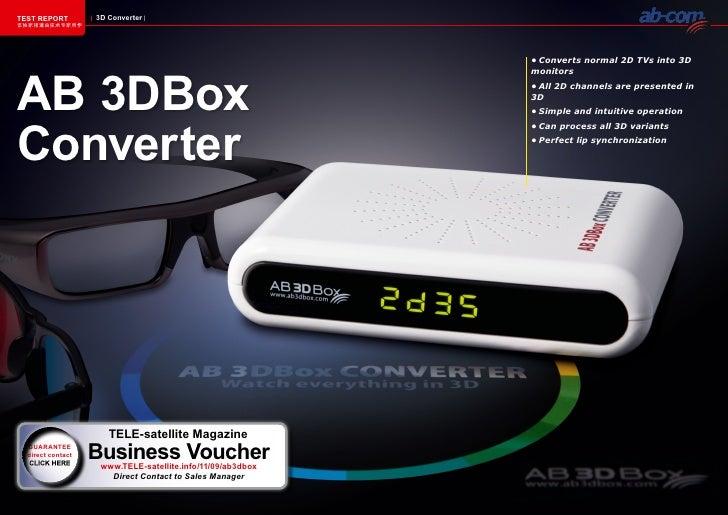 TEST REPORT        3D Converter该独家报道由技术专家所作                                                            •Convertsnormal2...