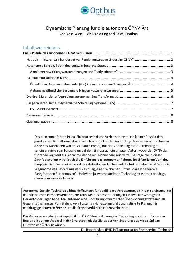 Dynamische Planung für die autonome ÖPNV Ära von Yossi Aloni – VP Marketing and Sales, Optibus Inhaltsverzeichnis Die 3.PS...