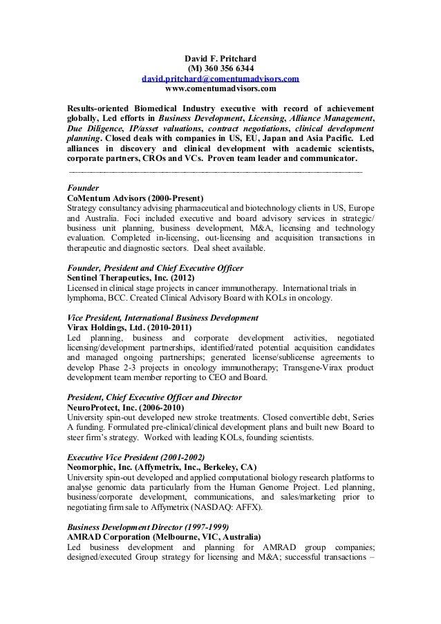 pritchard resume 2015