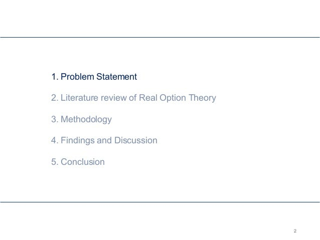Master thesis real options