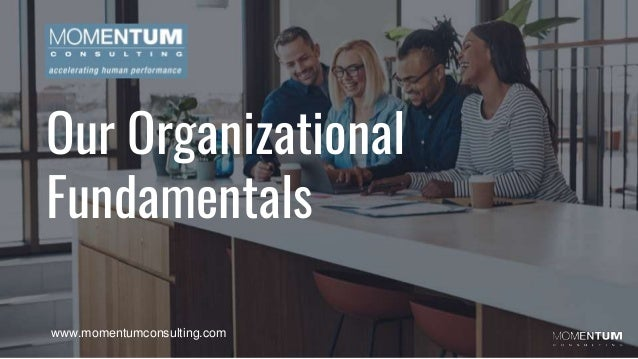 Our Organizational Fundamentals www.momentumconsulting.com