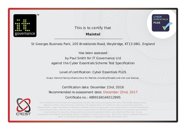 cyber security certificate essentials plus slideshare upcoming business