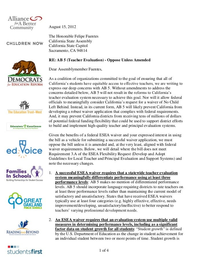 August 15, 2012The Honorable Felipe FuentesCalifornia State AssemblyCalifornia State CapitolSacramento, CA 94814RE: AB 5 (...