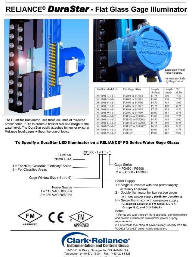 Led Illuminator For Flat Glass Level Gages