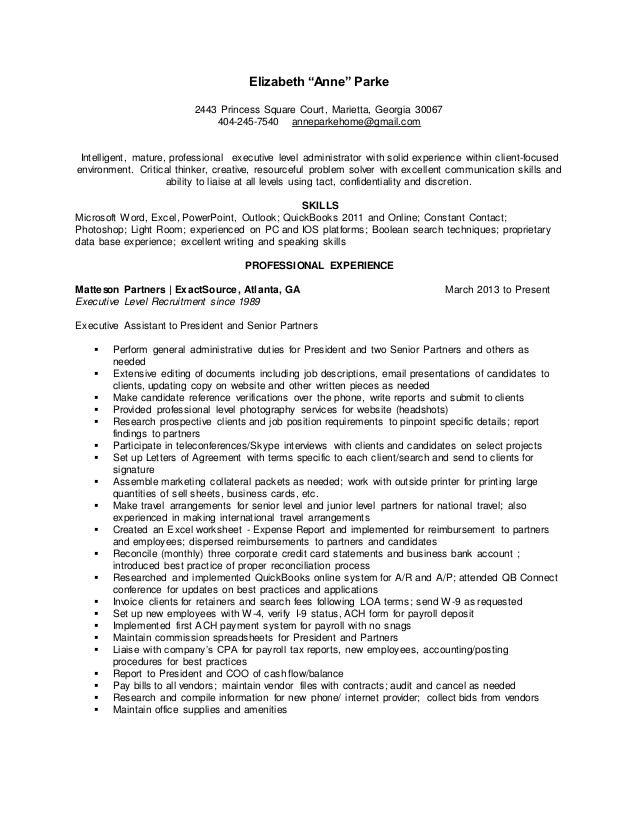 AnneParke.Resume 2003-2015