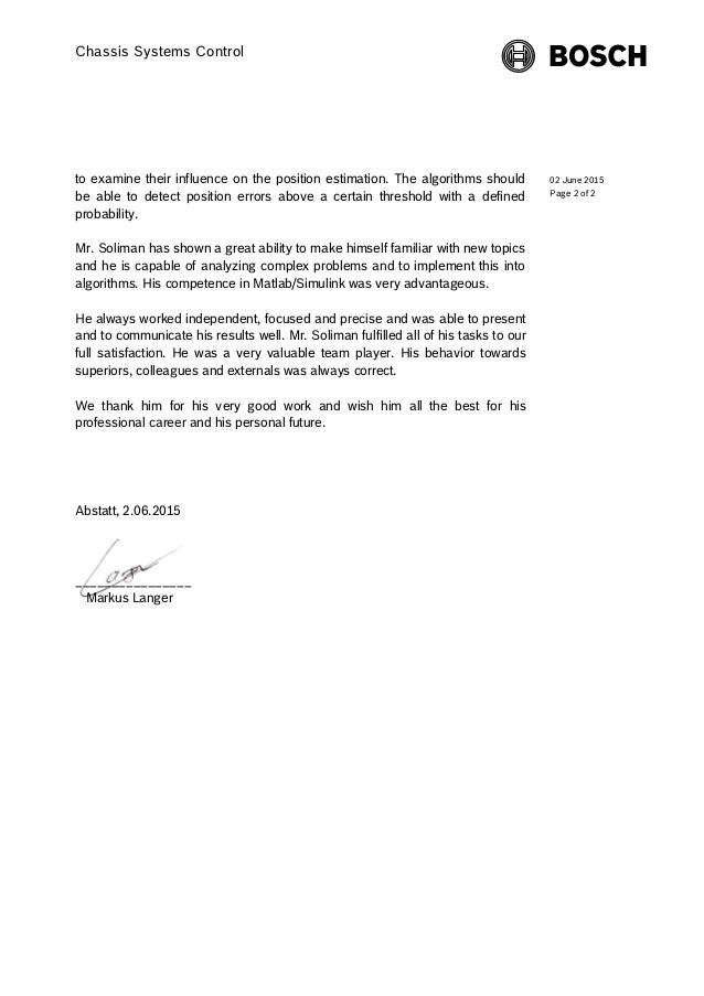 reference letter page