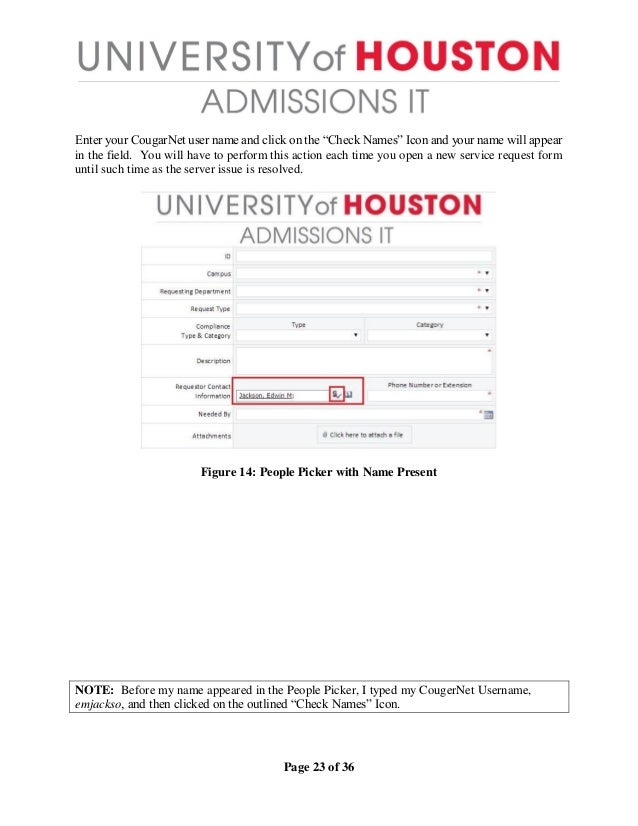 Introduction To The New Admissions It Service Request Form