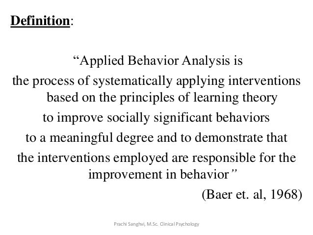 Applied Behaviour Analysis