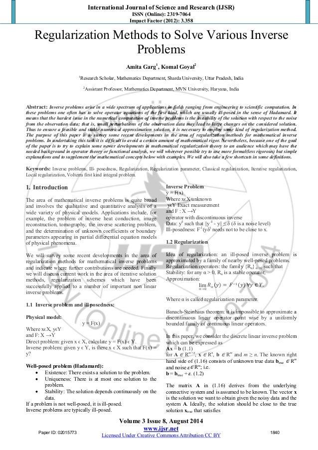 Regularization of Inverse Problems (Mathematics and Its Applications)