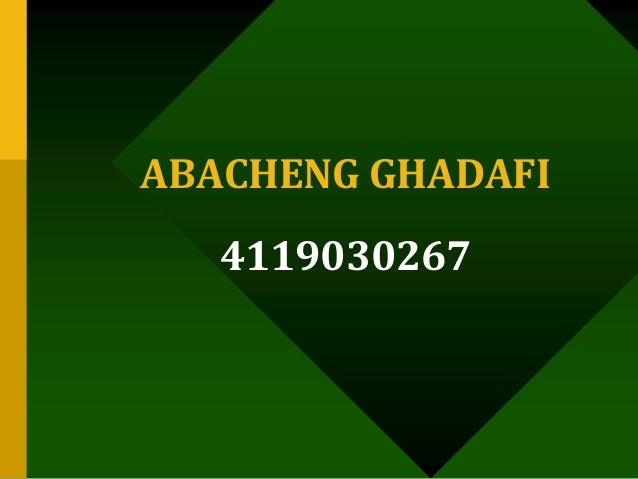 ABACHENG GHADAFI 4119030267