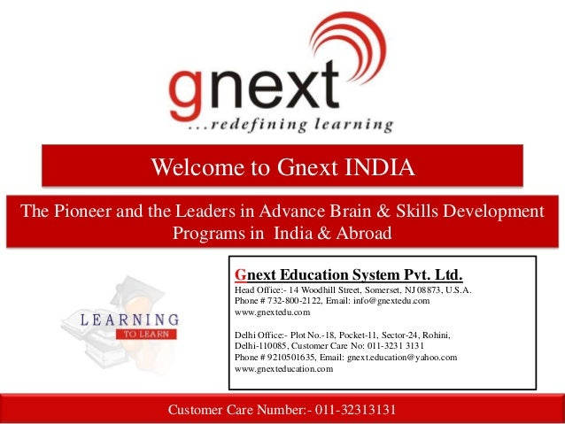 Welcome to Gnext INDIAThe Pioneer and the Leaders in Advance Brain & Skills Development                   Programs in Indi...