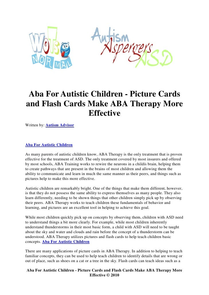 Aba for autistic children picture cards and flash cards make