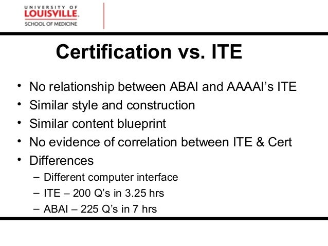 Strategies for the abai exam certification vs malvernweather Choice Image