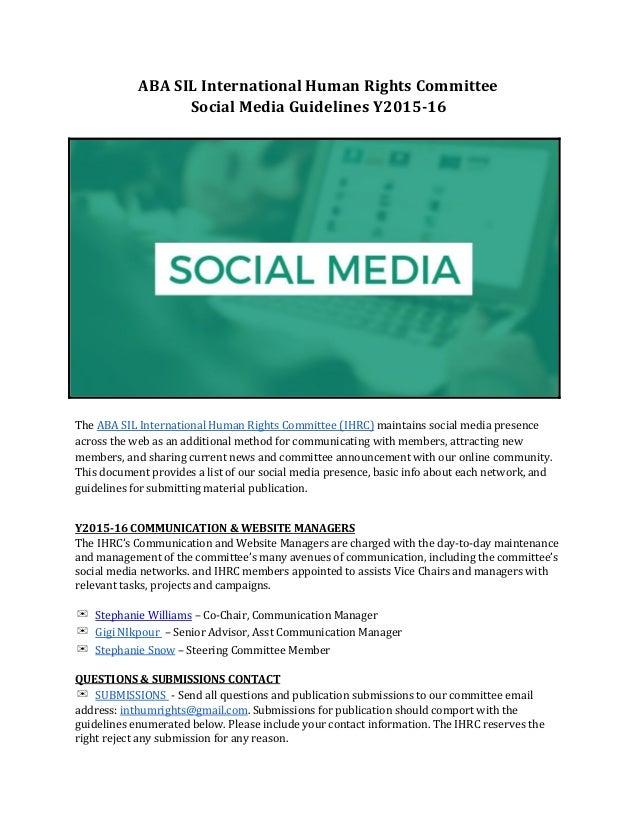 ABASILInternationalHumanRightsCommittee SocialMediaGuidelinesY201516    TheABASILInternationalHumanRi...