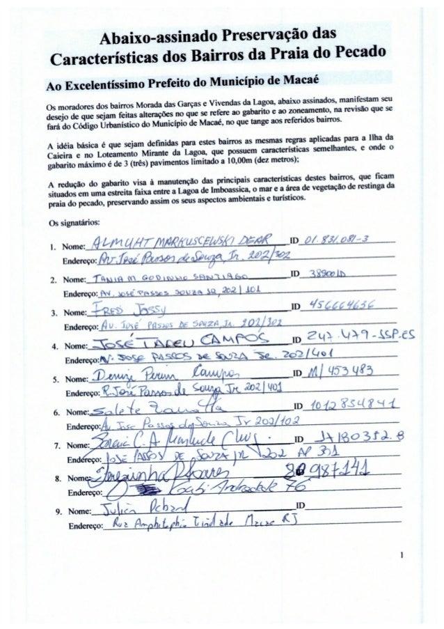 Abaixo assinado -  Redução da altura dos novos pédios do bairro Praia do Pecado