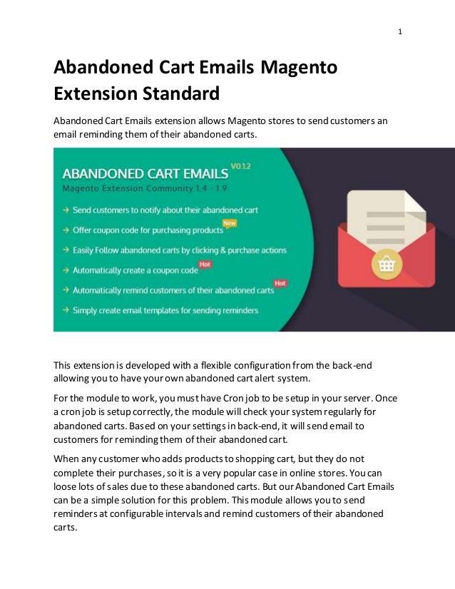 abandoned cart emails magento extension standard. Black Bedroom Furniture Sets. Home Design Ideas