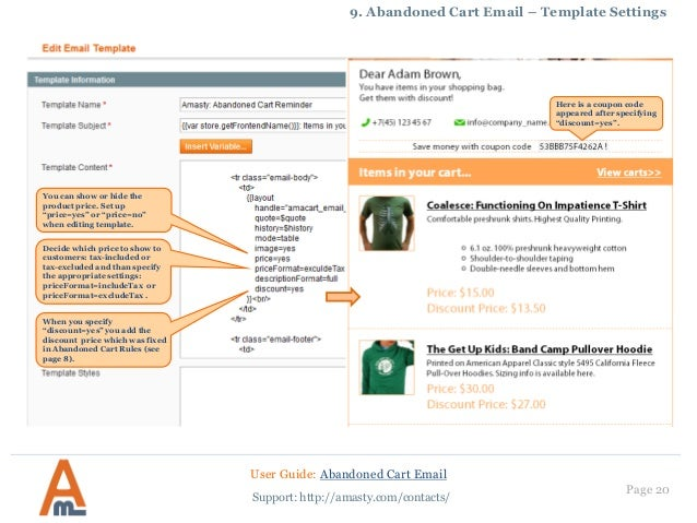 abandoned cart email magento extension by amasty user guide