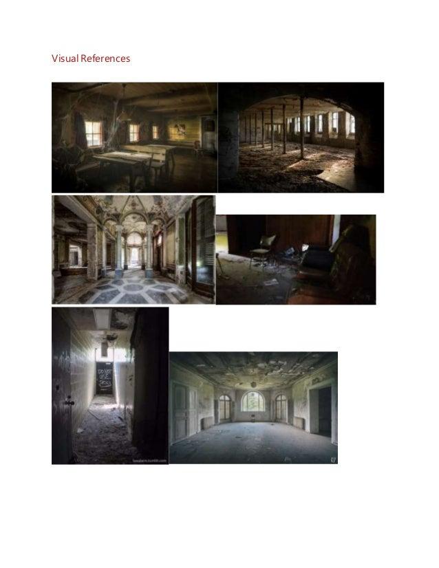 Abandoned manor Level Design Document Slide 2