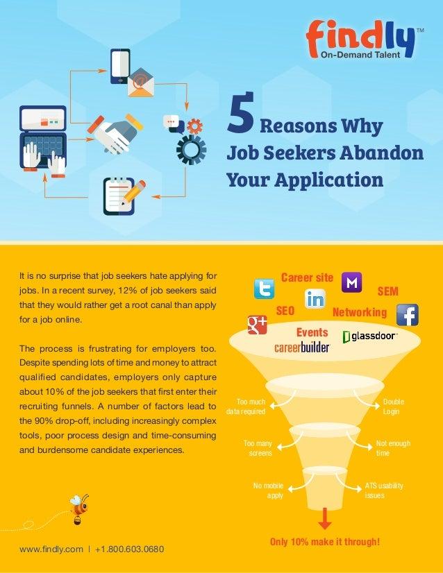 tip sheet  5 reasons why job seekers abandon your application