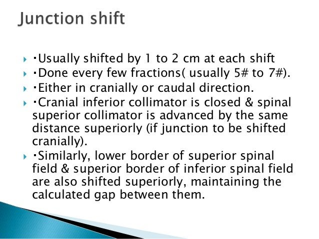  It is a rotational IMRT- no need for junction.  Helical TomoTherapy delivers continuous arc–based intensity-modulated r...