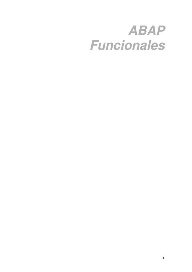 1 ABAP Funcionales