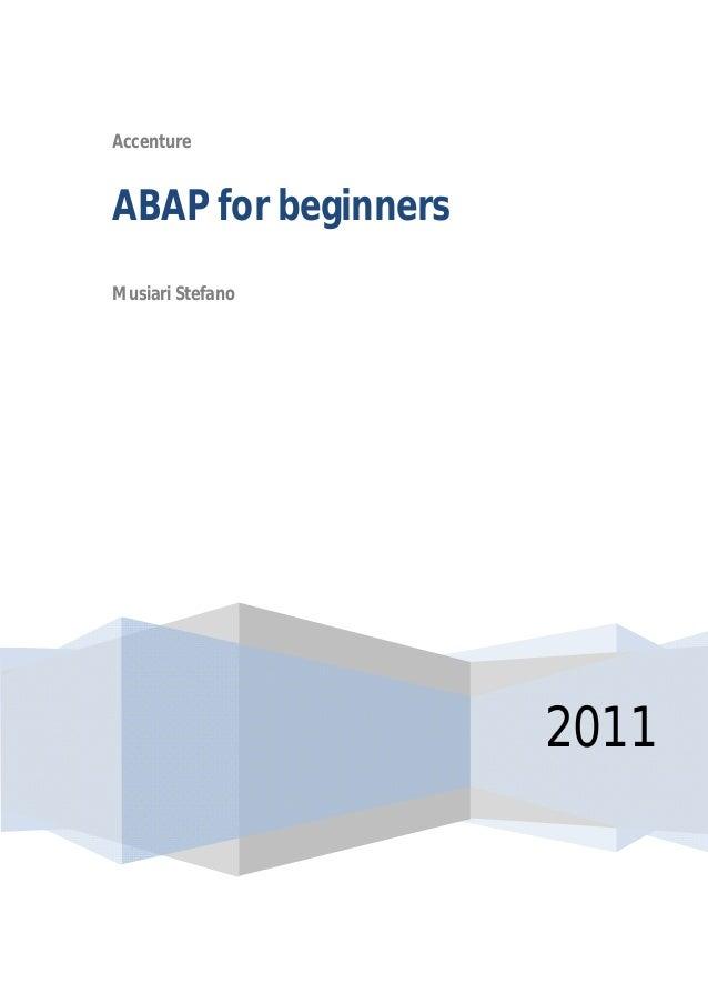 Accenture 2011 ABAP for beginners Musiari Stefano