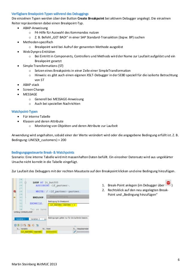 ABAP Test & Troubleshooting @SITMuc 2013