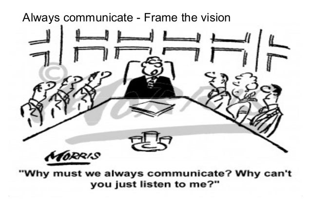 Always communicate - Frame the vision  Negotiations for Conflict Management  Mohammad Tawfik  #WikiCourses  http://WikiCou...