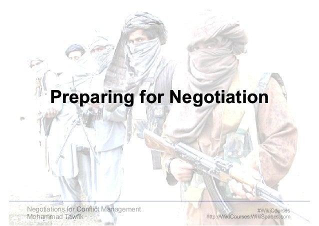 PPPPrrrreeeeppppaaaarrrriiiinnnngggg ffffoooorrrr NNNNeeeeggggoooottttiiiiaaaattttiiiioooonnnn  Negotiations for Conflict ...