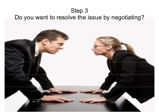 SStteepp 33  Do you want to resolve the issue by negotiating?  Negotiations for Conflict Management  Mohammad Tawfik  #Wik...