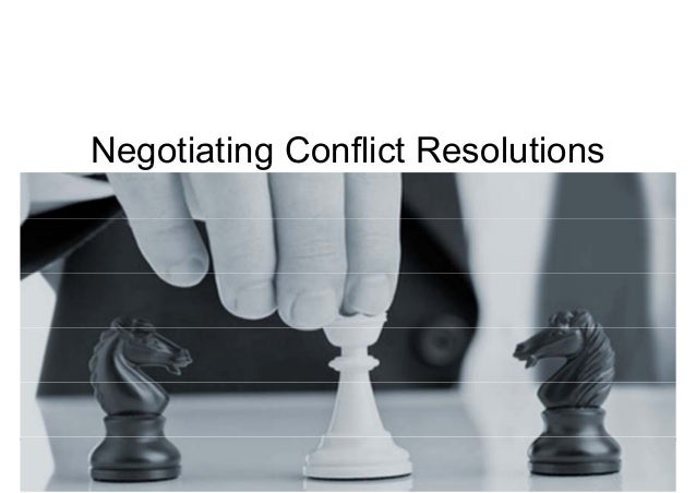 Neggotiatingg Conflict Resolutions  Negotiations for Conflict Management  Mohammad Tawfik  #WikiCourses  http://WikiCourse...