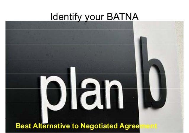 IIddenttiiffy your BBAATTNNAA  Negotiations for Conflict Management  Mohammad Tawfik  Best Alternative to Negotiated Ahtgt...