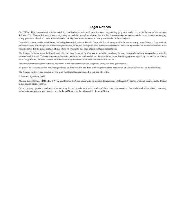 Abaqus Simulia Manual