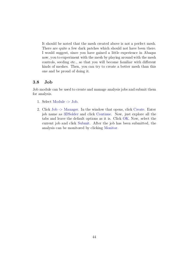 abaqus tutorial d er  44