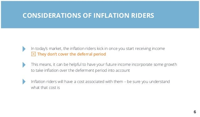 Insurability Rider Features