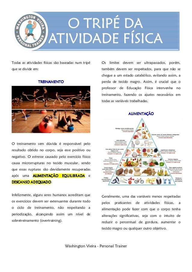 Washington Vieira - Personal Trainer Todas as atividades físicas são baseadas num tripé que se divide em: TREINAMENTOTREIN...